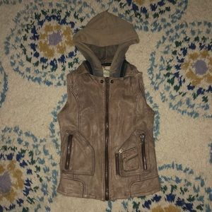 Free People Doma leather vest
